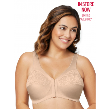 Glamorise Bra 1200 - The Front Close Wire-Free Support - BEIGE