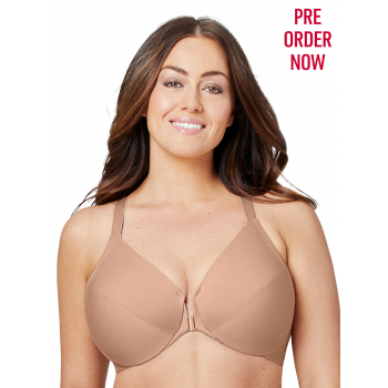 GLAMORISE BRA 1247 - FRONT CLOSE SMOOTHING UNDERWIRE BRA - CAPPUCCINO
