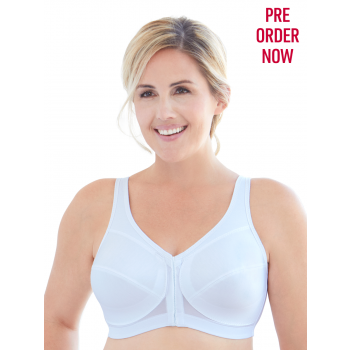 Glamorise Bra 1265 - 360 Support Front Close Posture - WHITE