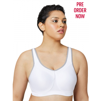 GLAMORISE BRA 9066 - No Limits High Support Underwire Sport - White