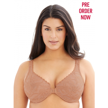 GLAMORISE BRA 9245 - ALLOVER LACE FRONT-CLOSE UNDERWIRE BRA - CAPP