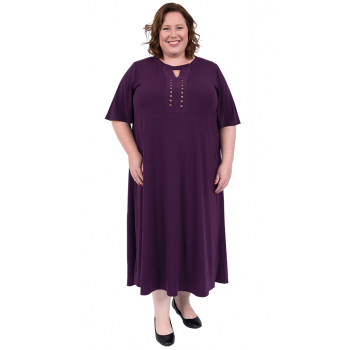 Purple Light Empire Dress