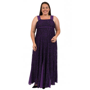 Purple Night Lace Dress