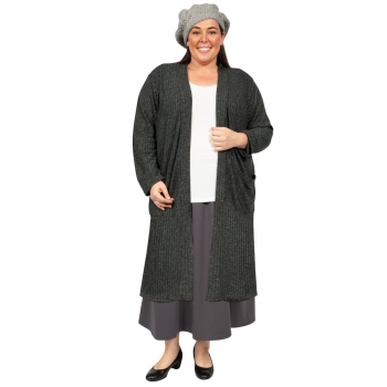 Longline Duster Cardigan - Grey