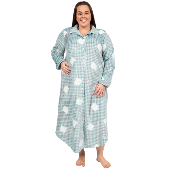 Avalon Flannel Nightie / Brunchcoat- Green
