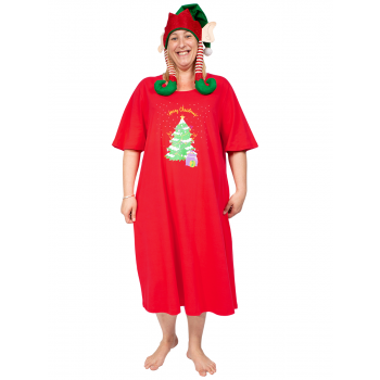 Night Before Christmas Nightie - Red