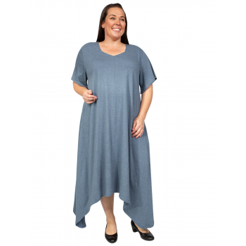 Denim Tensil Dress - Denim