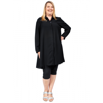 At Last Shirt Tunic - Black