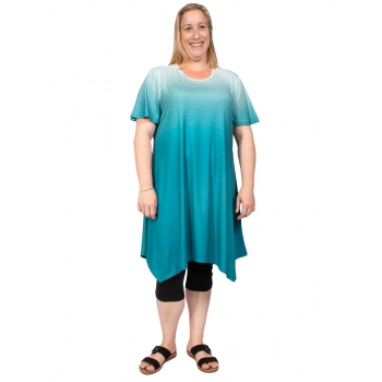 LOVE LETTERS TUNIC - TEAL