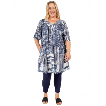 ROLLING FIELDS TUNIC - PRINT