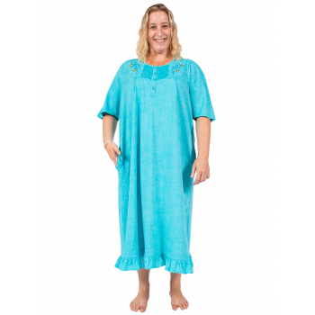 JUST FOR YOU EMBROIDERED NIGHTIE - BLUE