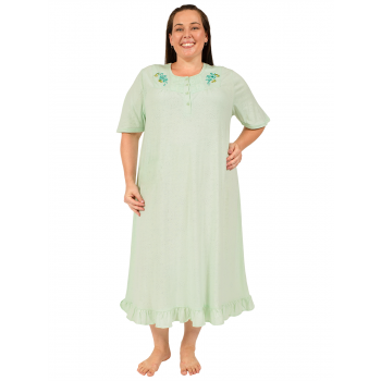 JUST FOR YOU EMBROIDERED NIGHTIE - MINT