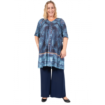 ROLLING FIELDS TUNIC - BLUE PRINT