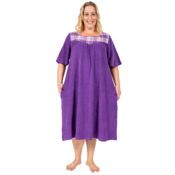 DREAMLAND TERRY DRESS WITH SLEEVES - PURPLE