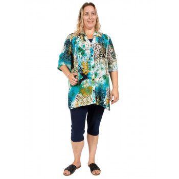 WHEN DOVES CRY PLEATED TOP - PRINT