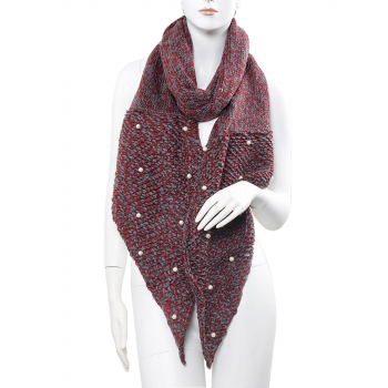Knitted Scarf - Burgundy