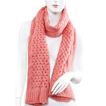 Knitted Scarf - Coral