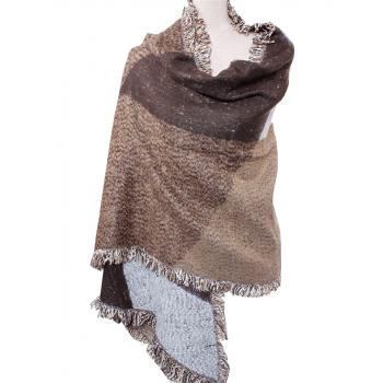 Diamond Shape Shawl - BEIGE