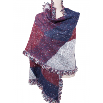 Diamond Shape Shawl - PURPLE