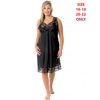 Tricot Full Slip - Black