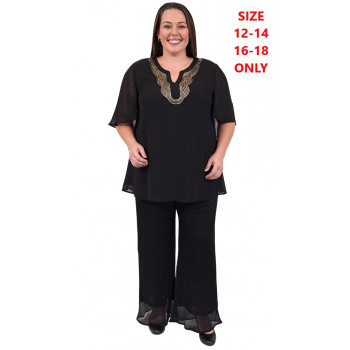 Even Flow Sequin Tunic - Black