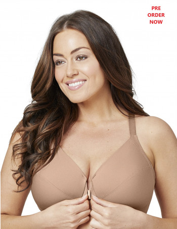 FRONT CLOSE SMOOTHING UNDERWIRE BRA - CAPPUCCINO