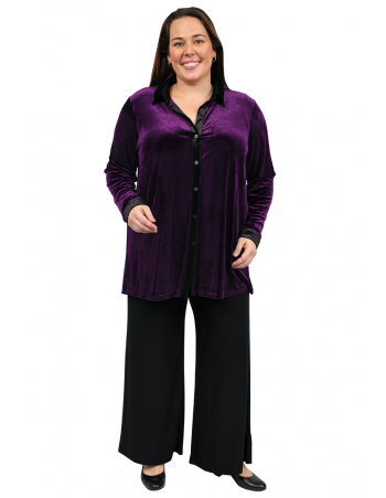 Countdown Velour Blouse - Purple