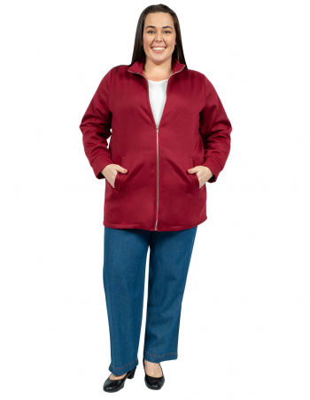 Fleece Tracksuit Zip Jacket - Maroon