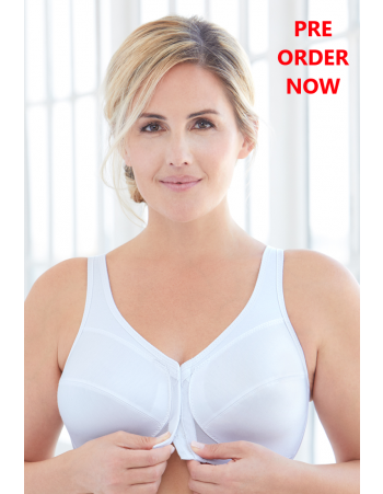 Glamorise Bras - 360 Support Front-Close Posture - WHITE