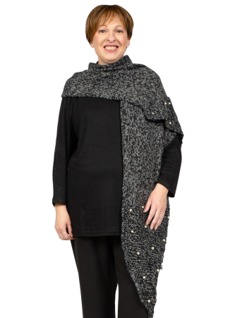 Knitted Scarf - Charcoal