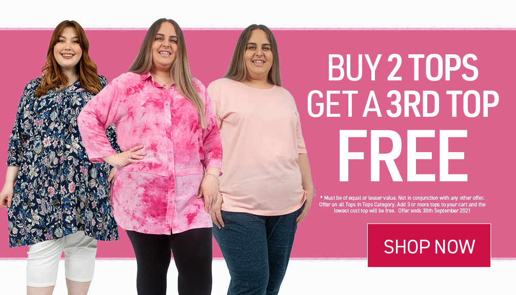 Buy 2 tops get a 3rd free